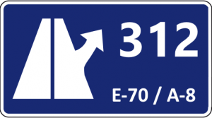Exit 312 of the Cantabrian highway A-8